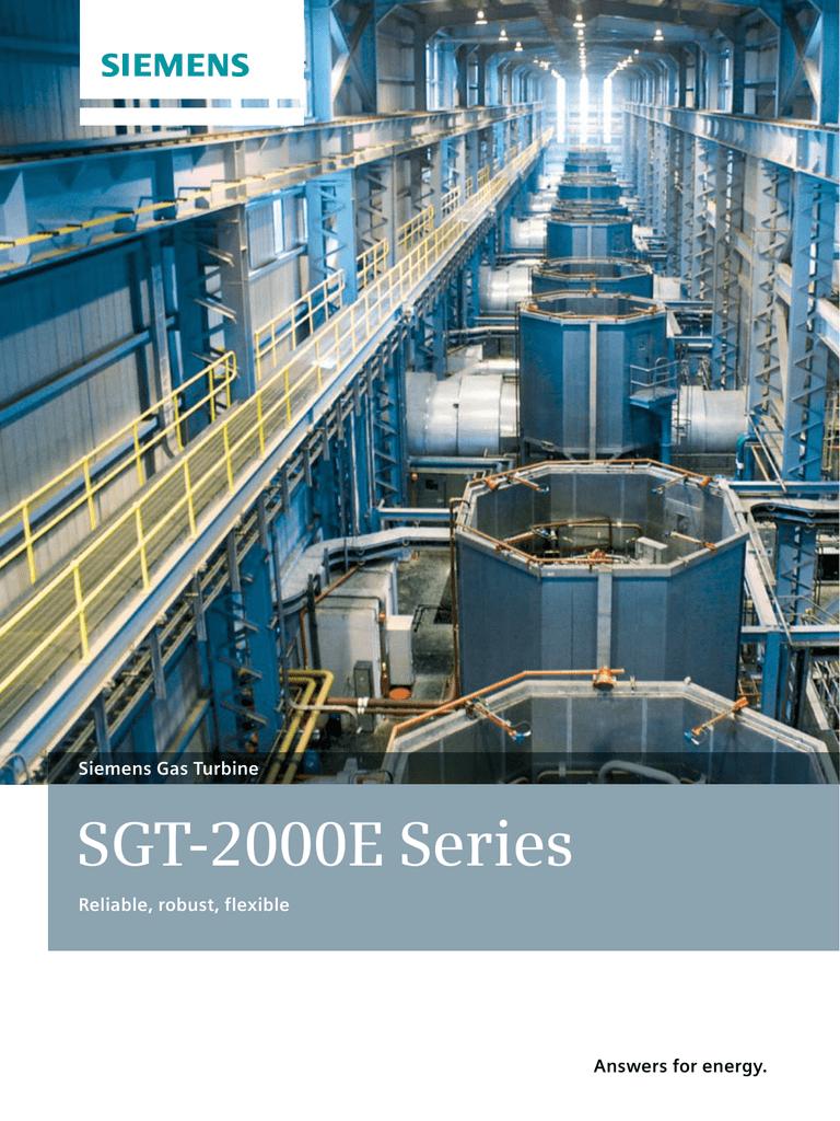 SGT-2000E Series Siemens Gas Turbine Reliable, robust