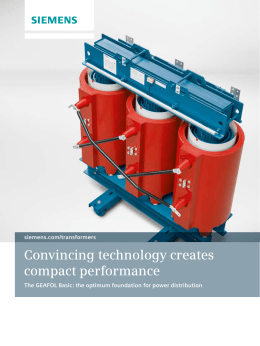 Convincing technology creates compact performance siemens.com/transformers
