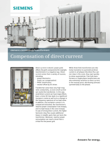Compensation of direct current siemens.com/energy/transformers