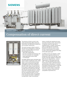 Compensation of direct current siemens.com/transformers