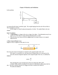 Chapter 10 Elasticity and Oscillations  In this problem 3 m