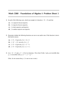 Math 3360 - Foundations of Algebra I: Problem Sheet 1
