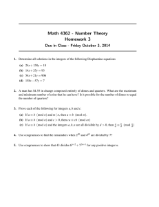 Math 4362 - Number Theory Homework 3