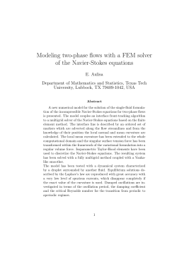 Modeling two-phase flows with a FEM solver of the Navier-Stokes equations