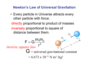 Newton's Law of Universal Gravitation other particle with force: