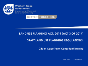 LAND USE PLANNING ACT, 2014 (ACT 3 OF 2014)