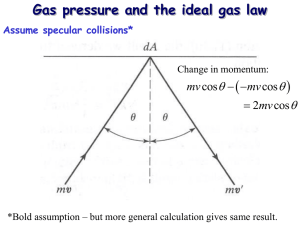   Gas pressure and the ideal gas law 