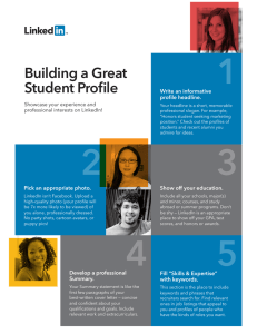 1 Building a Great Student Profile Write an informative