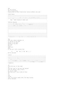 HEY by the Pixies off of Doolittle Transcribed by Mark Schnitzius ()