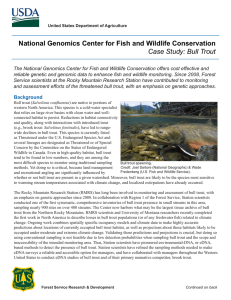 National Genomics Center for Fish and Wildlife Conservation
