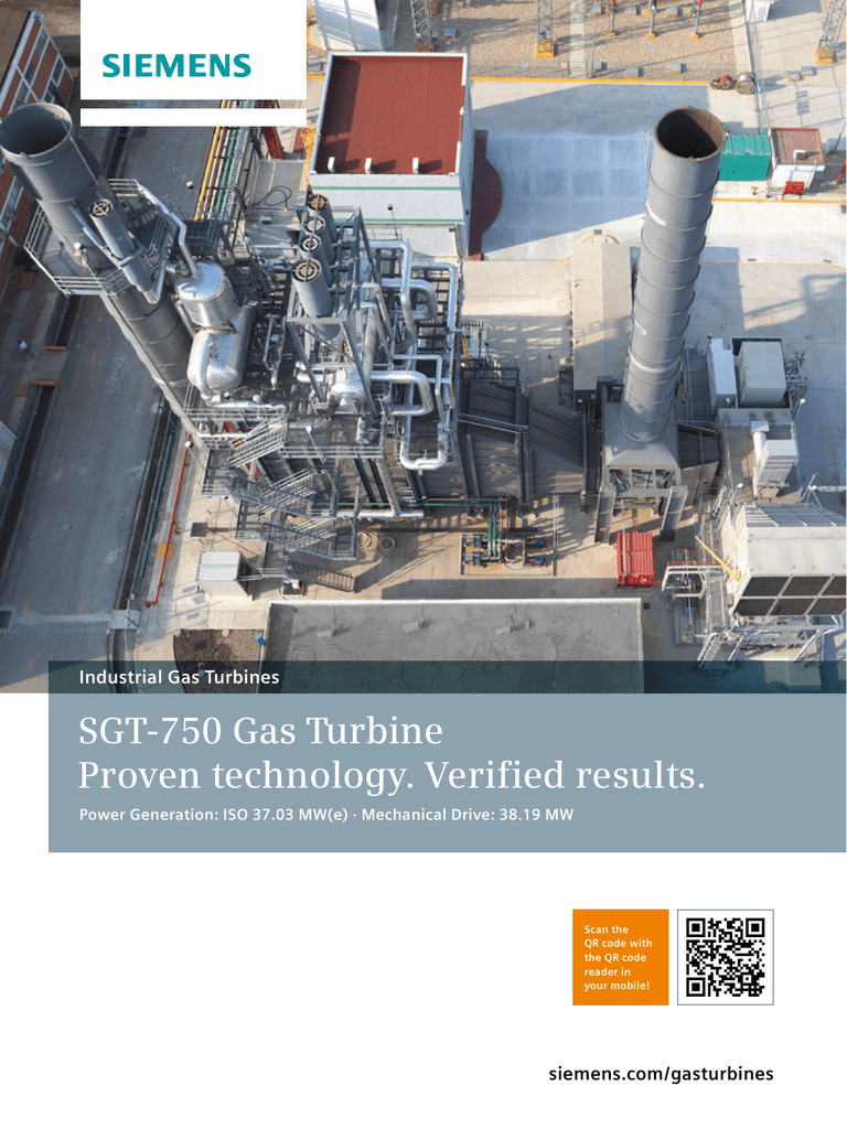 SGT-750 Gas Turbine Proven technology  Verified results