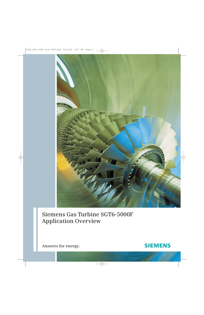Siemens Gas Turbine SGT6-5000F Application Overview Answers