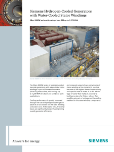 Siemens Hydrogen-Cooled Generators with Water-Cooled Stator Windings