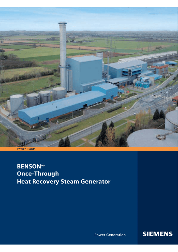 BENSON ce Through Heat Recovery Steam Generator Power Generation