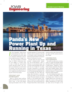 I Panda's New Power Plant Up and Running in Texas