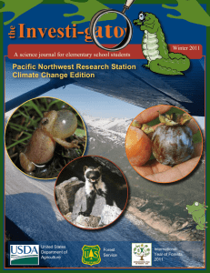 Investi-g the Pacific Northwest Research Station Climate Change Edition