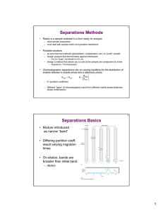 Separations Methods