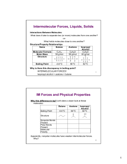 Intermolecular Forces Worksheet