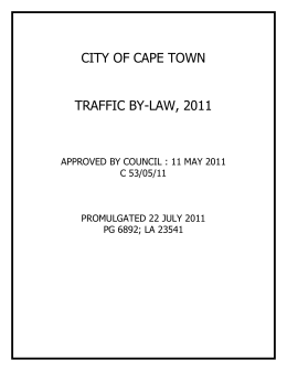 City of cape town parking by law 2010 city of cape town traffic by law 2011 ccuart Images