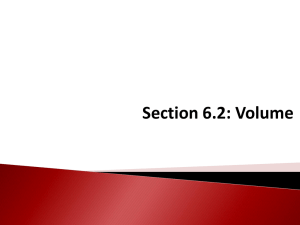 Section 6.2: Volume