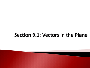 Section 9.1: Vectors in the Plane