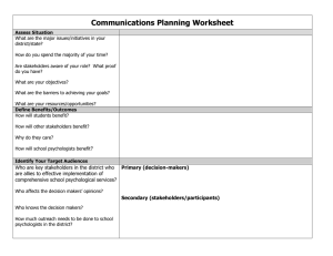 Communications Planning Worksheet