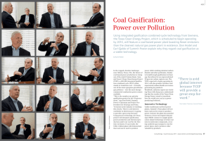 Coal Gasification: Power over Pollution