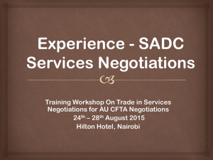 Training Workshop On Trade in Services Negotiations for AU CFTA Negotiations 24