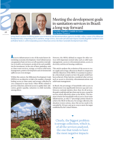Meeting the development goals in sanitation services in Brazil: 26