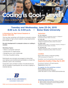 Coding is Cool – Level 1