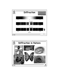 Diffraction Diffraction in Nature R. Ubic L
