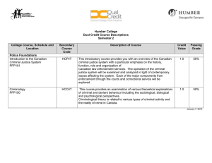 Humber College Dual Credit Course Descriptions Semester 2