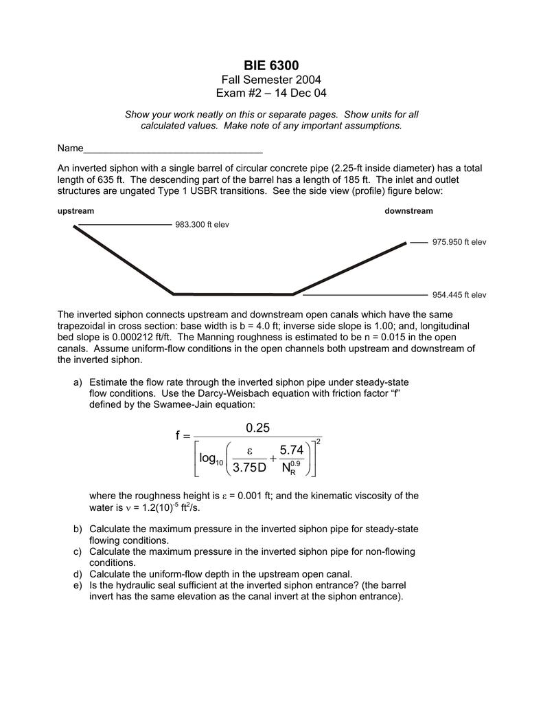 BIE 6300 Fall Semester 2004 Exam #2 – 14 Dec 04