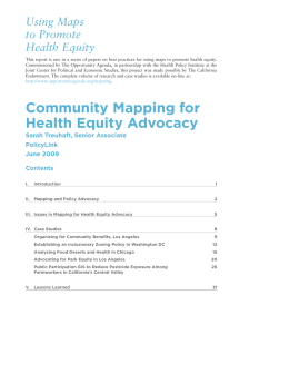Using Maps to Promote Health Equity