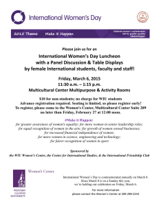 International Women's Day Luncheon with a Panel Discussion & Table Displays