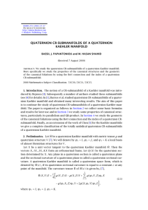 QUATERNION CR-SUBMANIFOLDS OF A QUATERNION KAEHLER MANIFOLD