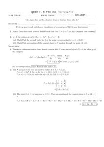 QUIZ 9 : MATH 251, Section 516