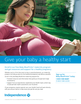 Give your baby a healthy start