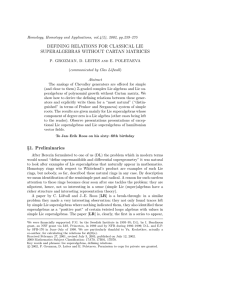 DEFINING RELATIONS FOR CLASSICAL LIE SUPERALGEBRAS WITHOUT CARTAN MATRICES
