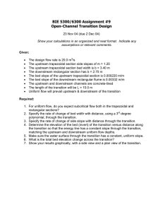 BIE 5300/6300 Assignment #9 Open-Channel Transition Design
