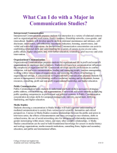 What Can I do with a Major in Communication Studies?