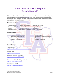 What Can I do with a Major in French/Spanish?