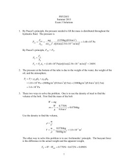 PHY2053 Summer 2013 Exam 3 Solutions