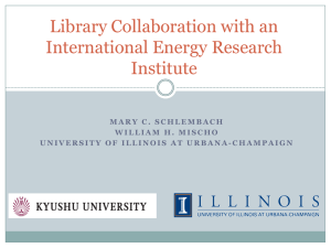 Library Collaboration with an International Energy Research Institute
