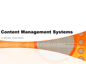 Content Management Systems a library overview