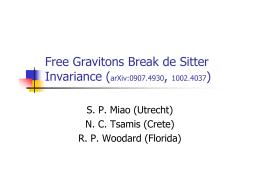 Free Gravitons Break de Sitter Invariance ( , )