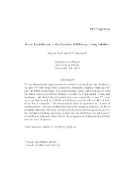 UFIFT-QG-10-08 Scalar Contribution to the Graviton Self-Energy during Inflation Sohyun Park