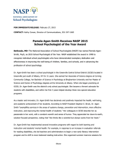 Pamela Agan-Smith Receives NASP 2015 School Psychologist of the Year Award