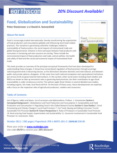 20% Discount Available! Food, Globalization and Sustainability  Peter Oosterveer