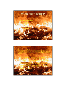 What makes a fire? There should be four major components at boiler.